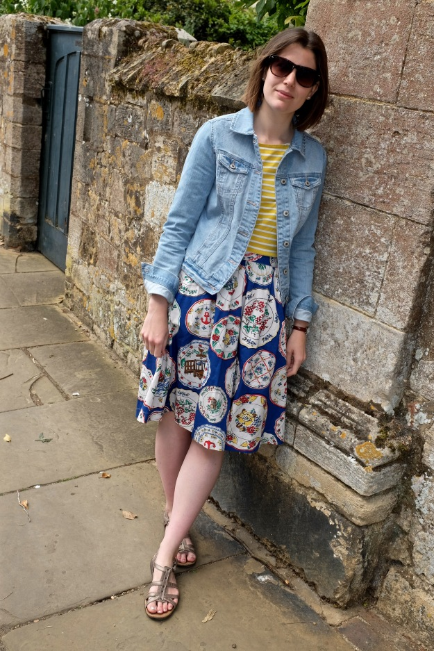 Boden summer skirt and breton